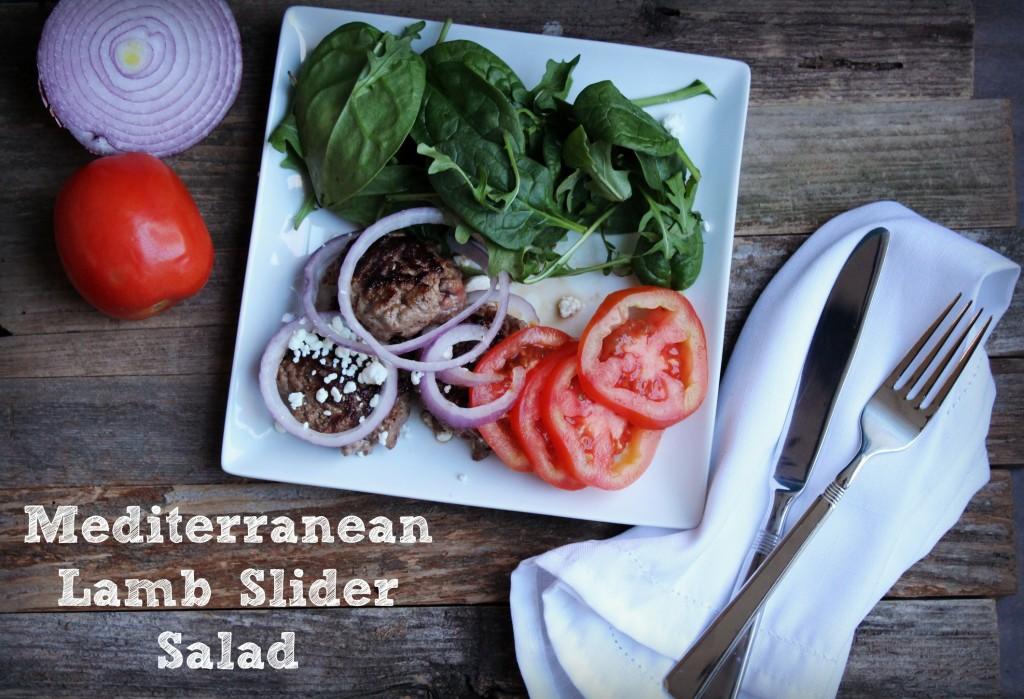 Mediterranean Lamb Slider Salad