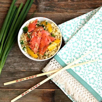Asian Smoked Salmon and Veggies