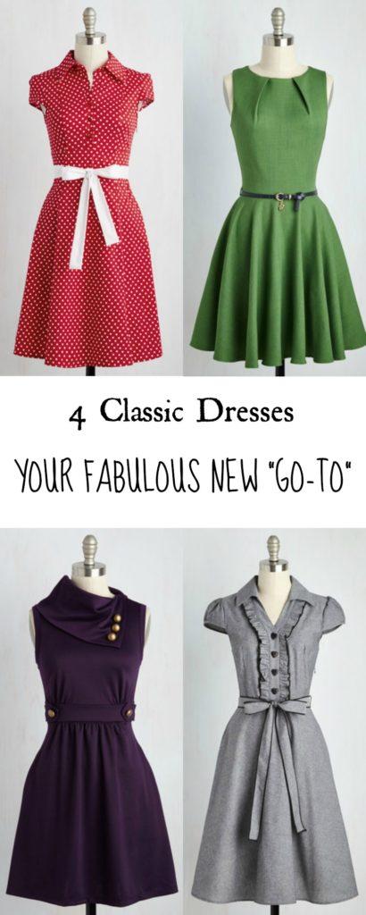 4 Classic Dresses