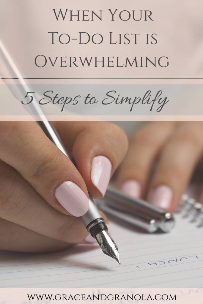 5 Steps to Simplify Your To-Do List